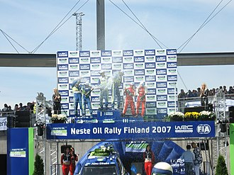 2007 Rally Finland - Celebrations on the podium.