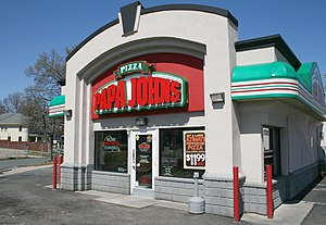 English: Papa John's Pizza #639 at 1018 West M...