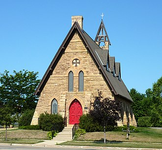 St. Peter, Minnesota - The Church of the Holy Communion is one of several St. Peter structures on the National Register of Historic Places.