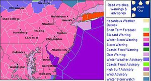 An array of winter weather warnings posted as ...