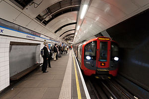 2009 Stock at Green Park tube station.jpg