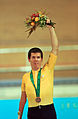 201000 - Cycling track Paul O'Neill bronze medal podium - 3b - Sydney 2000 medal photo.jpg