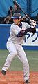 20100403 Kazuya Fujita, infielder of the Yokohama BayStars, at Meiji Jingu Stadium.JPG