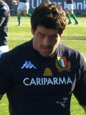 Andrea Masi - Image: 2011 02 05 Rugby Andrea Masi ITA IRL 6 Nations cropped