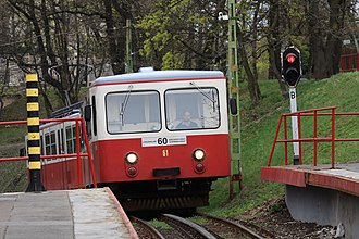 Budapest Cog-wheel Railway - Fogaskerekű going uphill