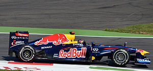 2011 Italian Grand Prix - Sebastian Vettel took pole position, at a circuit where Red Bull have never had a front row start before, by half a second from Lewis Hamilton.