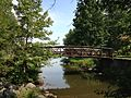 2013-08-26 12 06 51 Pedestrian bridge over a southern inlet of Mercer Lake in Mercer County Park.jpg