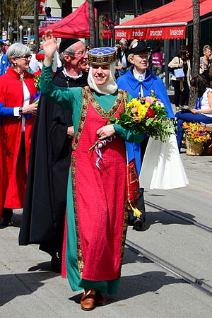 Gesellschaft zu Fraumünster - Historical clothing of the women of the society
