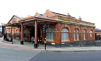 Birmingham Moor Street railway station - Restored GWR entrance to Moor Street.