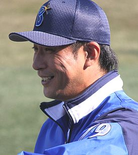 20141122 Shinji Niinuma,coach of the Yokohama DeNA BayStars, at Yokohama Stadium.JPG