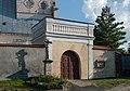 2014 Gorzanów, kościół św. Marii Magdaleny, ogrodzenie 02.JPG
