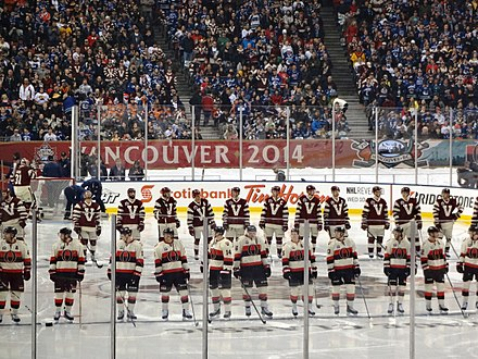 The Vancouver Canucks and Ottawa Senators participated in the 2014 Heritage Classic at BC Place. 2014 Heritage Classic Anthem.jpg