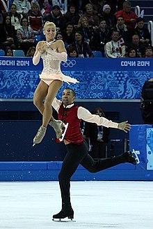 Taniec na lodzie pary z 2014 roku