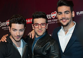 Italy in the Eurovision Song Contest 2015 - Il Volo during a press meet and greet