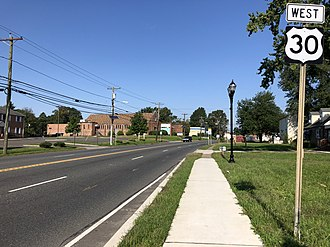 Somerdale, New Jersey - U.S. Route 30 westbound in Somerdale