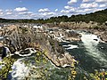 2019-09-07 15 12 33 View north-northeast towards the Great Falls of the Potomac River from Overlook 1 about 100 feet downstream of the falls within Great Falls Park in Great Falls, Fairfax County, Virginia.jpg