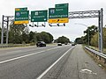 2019-10-03 09 55 16 View east along Maryland State Route 32 (Patuxent Freeway) at Exit 13B (Interstate 95 SOUTH, Washington) in Columbia, Howard County, Maryland.jpg