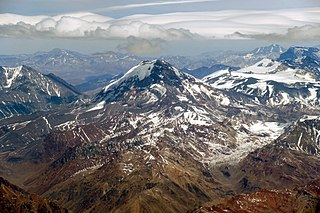 Tupungato Volcanic dome in the Andes