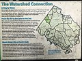 "2020-04-05 13 11 16 ""The Watershed Connection"" descriptive sign within Horsepen Run Stream Valley Park in Oak Hill, Fairfax County, Virginia.jpg"