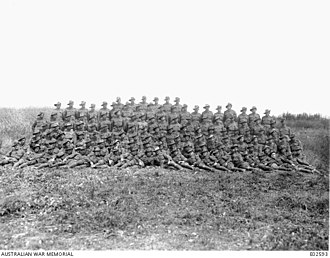 20th Battalion (Australia) - Non-commissioned officers of the 20th Battalion at Rivery, Somme, June 1918