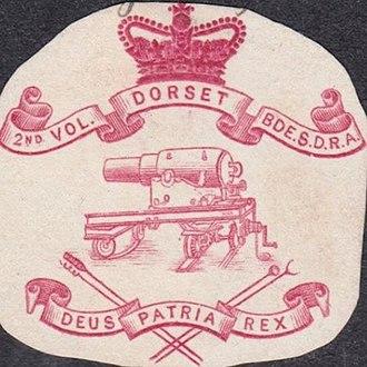 1st Dorsetshire Artillery Volunteers - Letterhead of the 2nd Dorset Artillery Volunteers, 1895