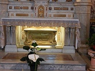 Santuario di Maria Ausiliatrice a Torino: tomba di Domenico Savio
