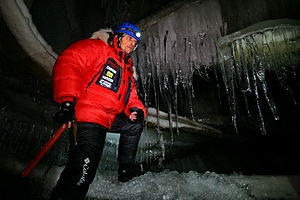 Luca Bracali - Inside Bolterdalen ice grotto in the Svalbard islands.