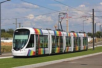 Angers tramway - Image: 4,03 Hauts de St Aubin Citadis n°1016 (tram Angers) par Cramos