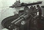 40 mm Bofors twin mount on USS Cabot (CVL-28) in 1990.jpg