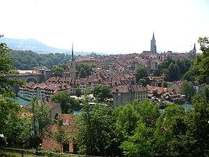 View from Lerber Street, Berne, Switzerland