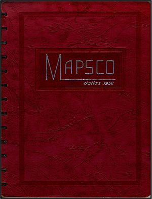 Mapsco - The cover of the first Dallas Mapsco dated 1952