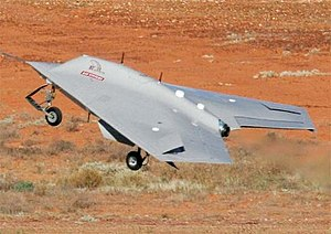 Unmanned combat aerial vehicle - A BAE Raven during flight testing
