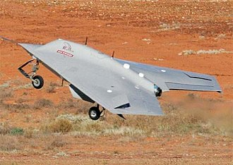 Lethal autonomous weapon - A BAE Systems Corax during flight testing
