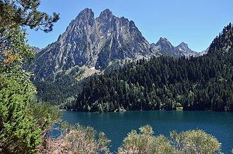 Province of Lleida - A view of Aigüestortes i Estany de Sant Maurici National Park.