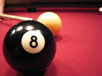Glossary of cue sports terms - An 8 ball