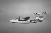 854th BS B-24 liberators in Formation - 1944
