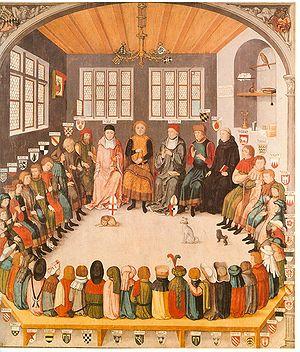 Eberhard III, Count of Württemberg - Image: 900 49 Ratssitzung Eberhard der Milde