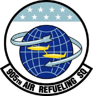 905th Air Refueling Squadron - Image: 905 Air Refueling Sq emblem