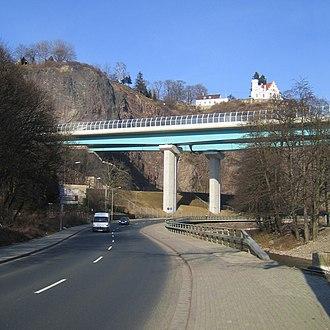 Bundesautobahn 17 - Bundesautobahn 17 crossing the Weißeritz valley in southern Dresden
