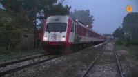 File:AEG Dmu at Lilea station in a foggy morning, October 2016..webm