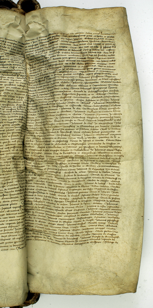 Paul von Rusdorf - Parchment document: Paul von Rusdorf peace signed with Władysław Warneńczykiem, the Polish king, Sigismund Kiejstutowiczem, Grand Duke of Lithuania and others, 1435