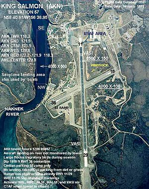 King Salmon Airport - Image: AKN Aerial Map