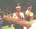 A 'Wangala' drummer of Garo Tribe of Meghalaya pose for the photo at the Republic Day Folk Dance Festival 2004 which was inaugurated by the President Dr. A.P.J Abdul Kalam in New Delhi on January 24, 2004.jpg