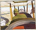 A British Pilot in a Be2c approaching Hit along the course of the River Euphrates, July 1919. Art.IWMART4617.jpg