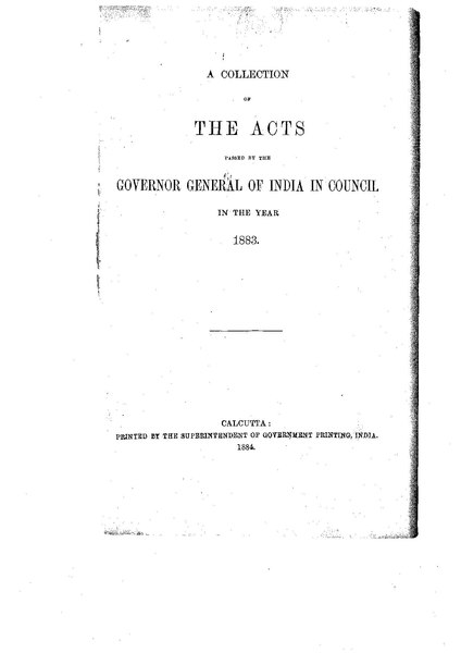 File:A Collection of the Acts passed by the Governor General of India in Council, 1883.pdf