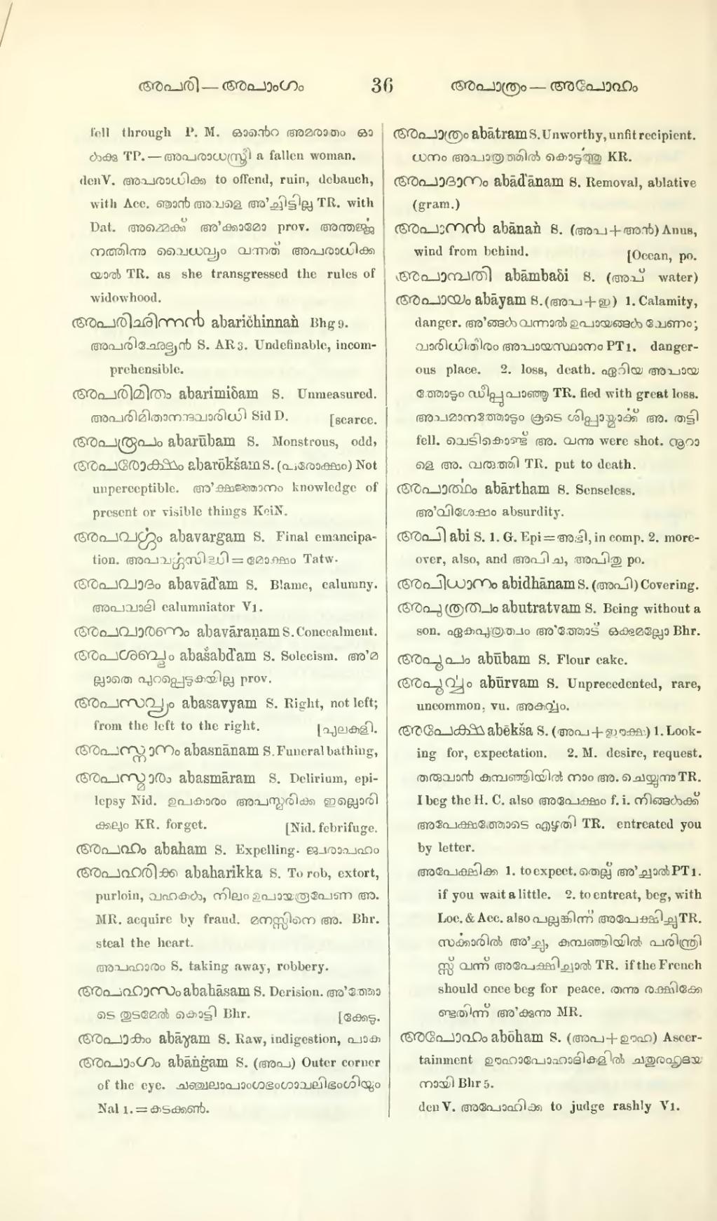 dictionary to malayalam free