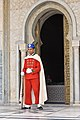 A Royal Moroccan Guard standing guard at the Mausoleum of Mohammed V in Rabat.jpg