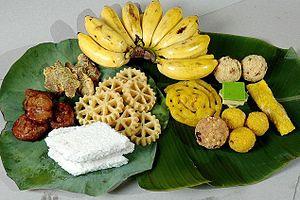 Puthandu - A traditional arrangement of festive foods for Puthandu.