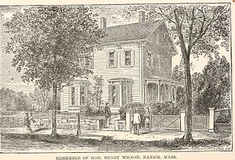 Henry Wilson's Natick home. A gazetteer of the state of Massachusetts - with numerous illustrations (1890) (14580448908).jpg