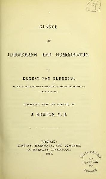 A glance at Hahnemann and homoeopathy (IA b28404993)